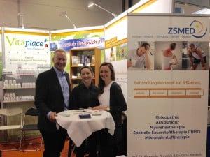 ZSMED-Team auf der Intersana Gesundheitsmesse
